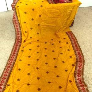 Beautiful silk sari / Saree with stitched blouse